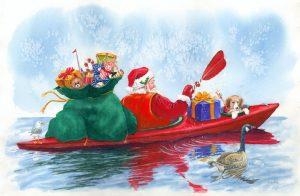 canoe-santa